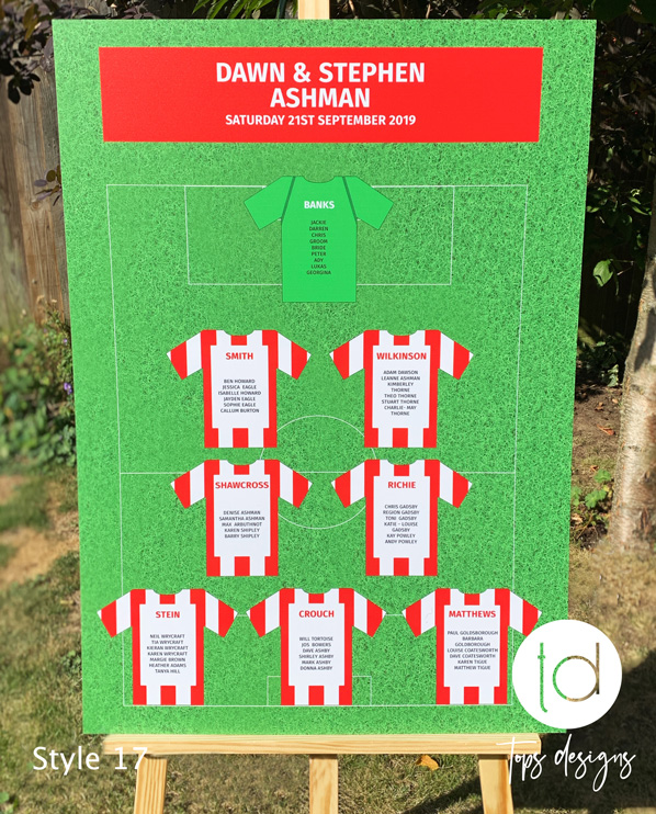Tops Designs - Football Pitch Table Plan