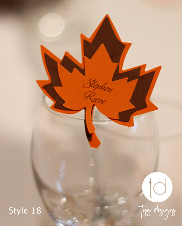 Tops Designs - Autum Leaf Place Name