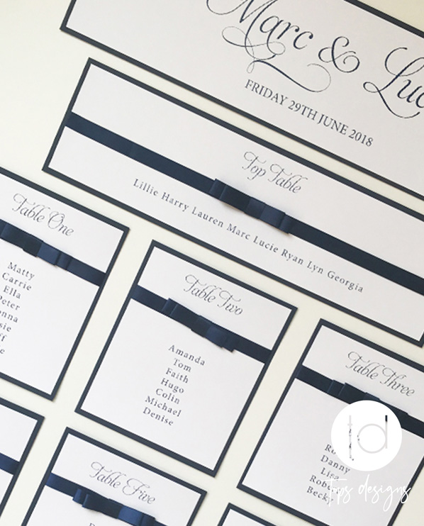 Tops Designs - Navy Table Plan